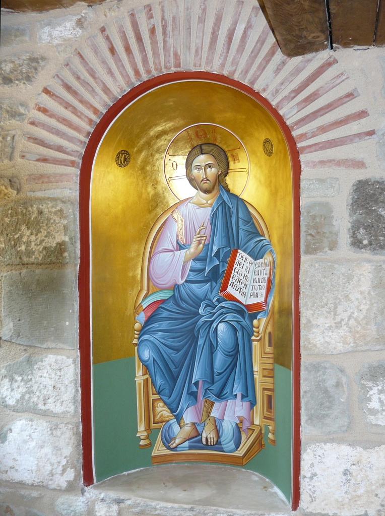 Christ_Pantocrator_niche_Holy_Trinity_Meteora